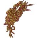 palmette de fleurs rouges 19 cm