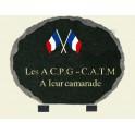 Plaque ovale éclatée avec drapeau tricolore 30*23