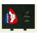 Plaque avec logo FNACA 30*23