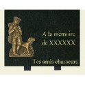 Plaque association chasseur 30*23
