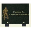 plaque pompier 20*15