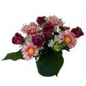 Pot de roses et marguerites 26 cm